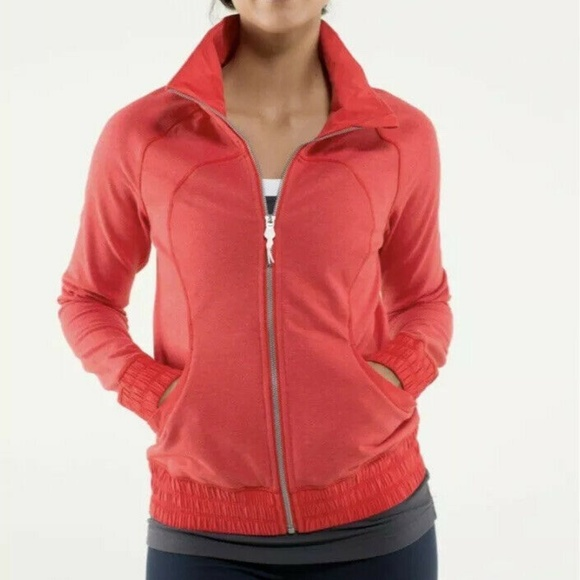 lululemon athletica Jackets & Blazers - Ω Lululemon Blissed Out Zip Up Jacket Love Red